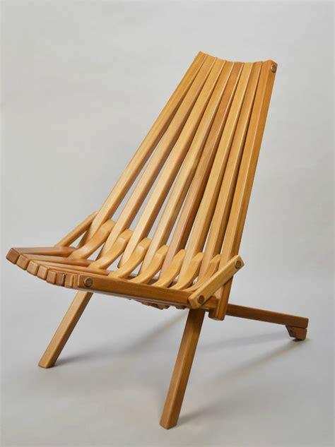gorgeous mid century modern teak wood folding chair