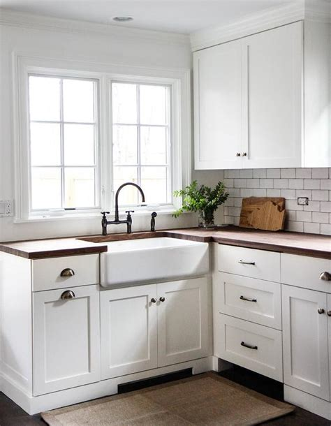 white cabinets with wood countertops kitchen cabinet cup pulls roselawnlutheran