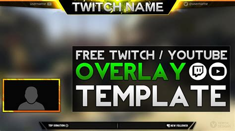 twitch banner template psd 2017 free twitch overlay template download psd photoshop