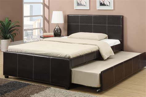 black leather platform bed espresso faux leather size bed with trundle bed