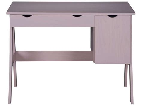 bureau fille conforama bureau 1 porte 1 tiroir dolly coloris vente de