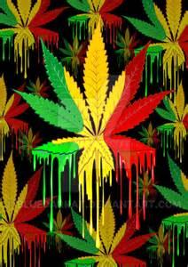 Marijuana Leaf Rasta Color