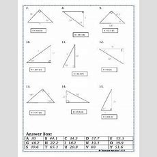 Right Triangles  Sin Cos Tan (soh Cah Toa) Trig Riddle Practice Worksheet Classroom
