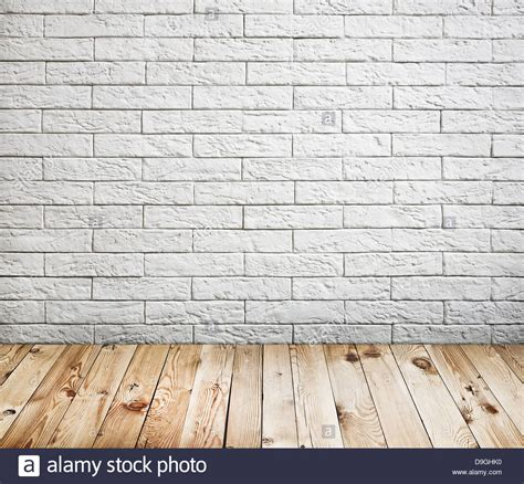 Mobile Home Interior Wall Paneling - room interior with white brick wall and wood floor background stock photo 57528100 alamy