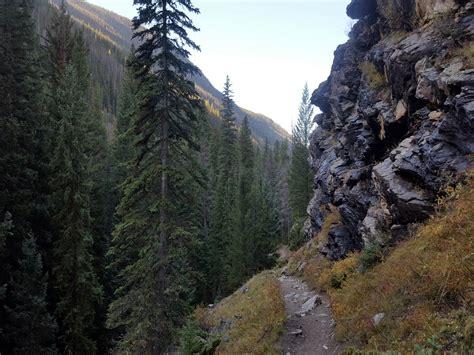 cascade falls hike rocky mountain national park