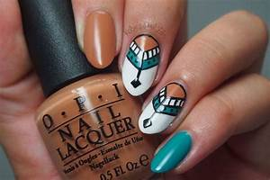 Kelsie's Nail Files: Pocahontas Tribal Nail Art ...