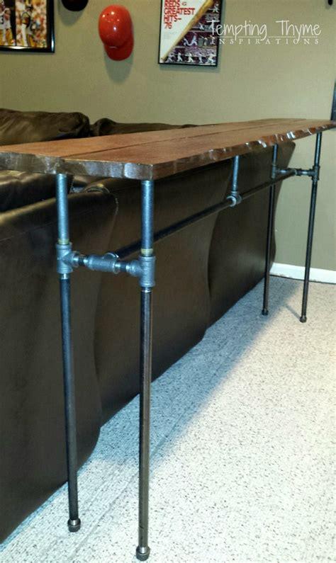 diy industrial desk diy industrial pipe table tempting thyme