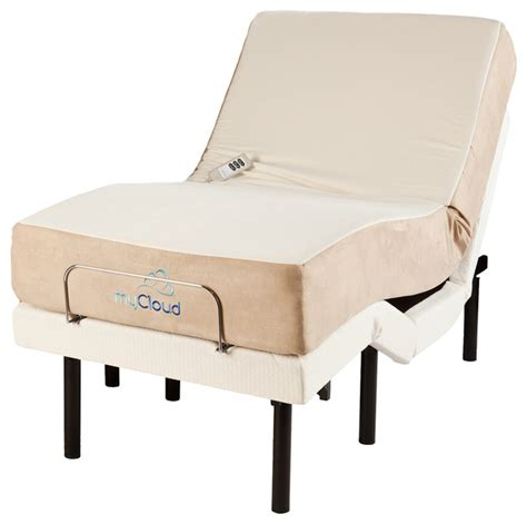 adjustable bed with 10 quot mattress twin xl contemporary