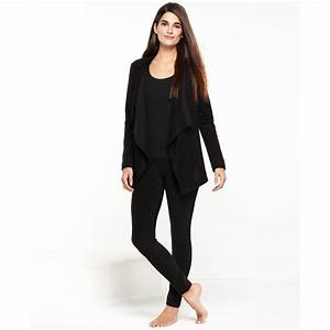 Dkny City Escape Top and Leggings Set in Black | Lyst