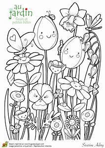 Coloriage Jardin De Fleurs Et Petites Btes