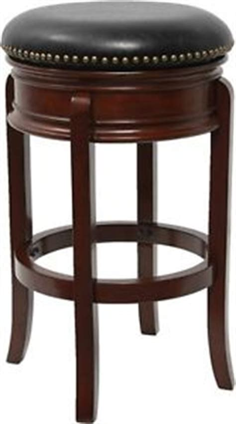 backless leather counter stools black 29 backless cherry solid wood bar stool with black 7556