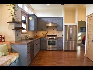Grey Kitchen Cabinets - Grey Kitchen Cabinets With Dark