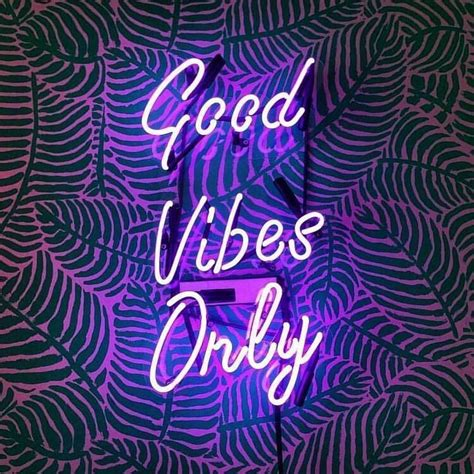 Vibes Neon Wallpaper by Vibes Only Motivation Neon Wallpaper Neon Signs