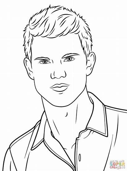 Coloring Taylor Swift Lautner Drawing Coloriage Printable