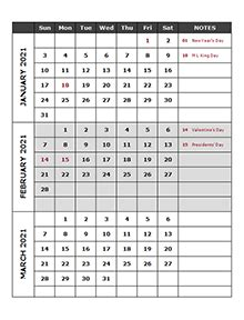 printable  quarterly calendar templates calendarlabs
