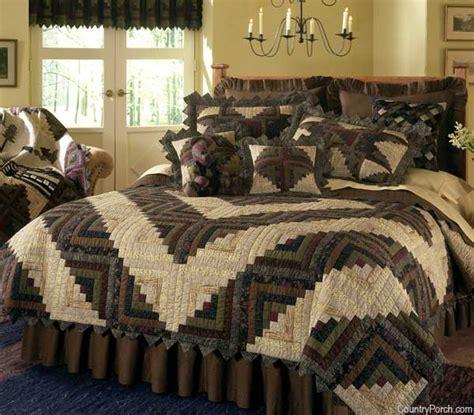 floral quilt bedding barn raising log cabin quilt bedding by donna sharp