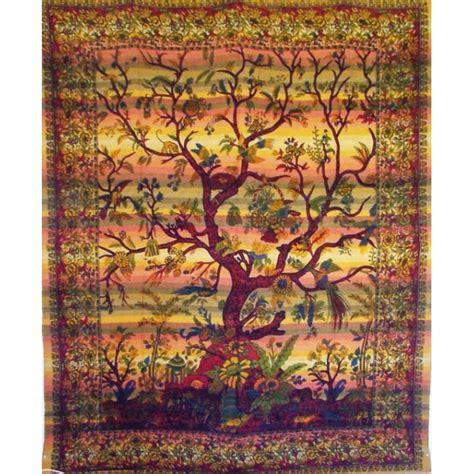 tenture murale arbre de vie tenture indienne quot arbre de vie quot tgm018 tentures murales artisanales sur artiglobe