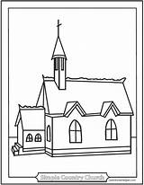 Church Coloring Simple Pages Sheets Country Catholic Chapel Helpers Template Churches Printable Catechism Helper Sanctuary Jesus Baltimore Saintanneshelper Sketch Religion sketch template