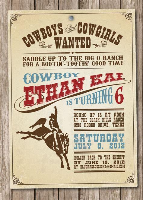 cowboy invitation wording  design ideas  visit