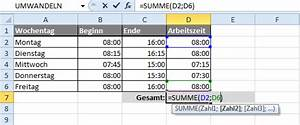 Excel Tabelle Summe Berechnen : zeiteinheiten umrechnen in excel ~ Themetempest.com Abrechnung