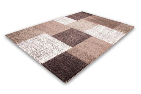 tapis moderne marron et beige geneva 60x110 cm