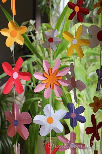 Girlande Fenster by Blumen Girlanden Basteln Blumen Girlande Basteln
