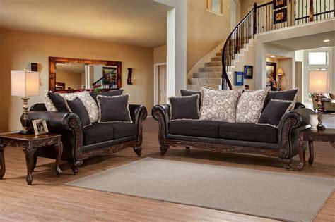 soprano ebony sienna sofa  loveseat living room