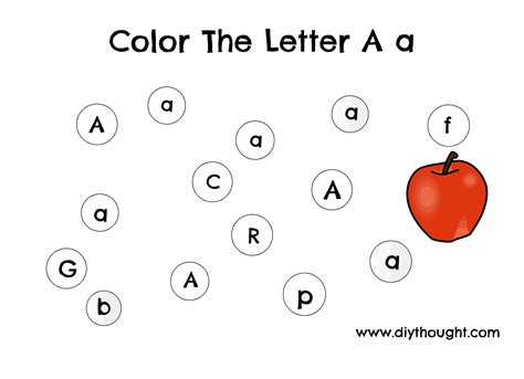 5 letter a preschool printables diy thought 286   Drawing
