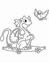 Dragon Coloring Pages Cute Printable sketch template