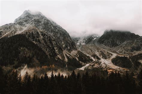 photo  white grey mountain   tone brown
