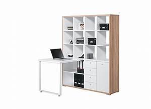 Bureau blanc avec rangement. bureau contemporain avec rangement ch