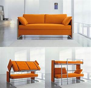 Bonbon convertible doc sofa bunk bed ingenious look for Diy convertible sofa bed