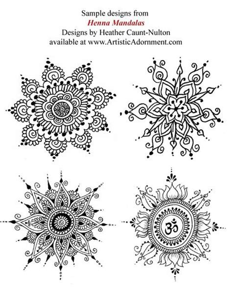 Henna Mandalas ebook Mehndi pattern book with от HennaByHeather | Татуировки, Татуировка мандала