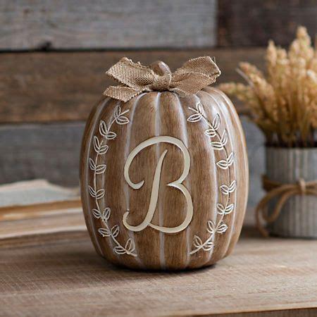 white monogram  pumpkin statue wreath designs fall decor seasonal gifts