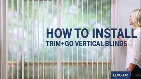install levolor trimgo vertical blinds youtube