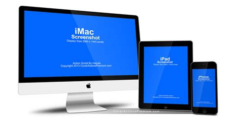 apple imac iphone ipad mock  cover actions premium
