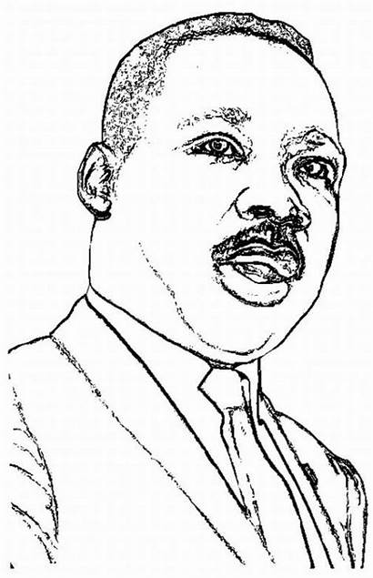Luther Martin King Coloring Jr Pages Drawing