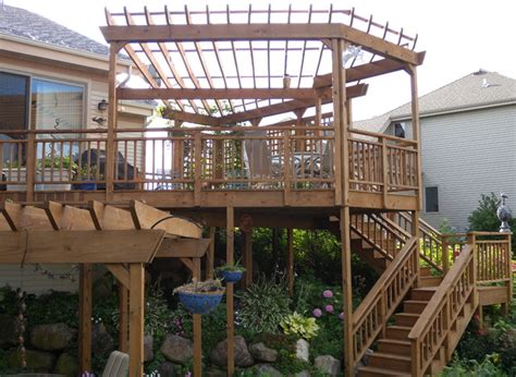 Two Story Deck Ideas by Two Story Deck On Pinterest Two Story Deck Pergolas And