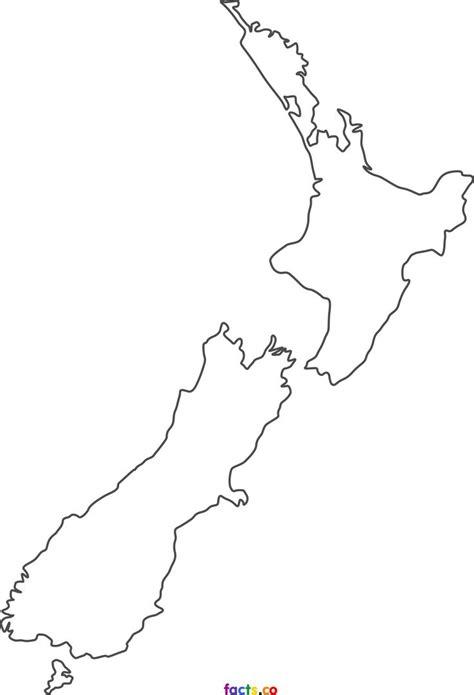 zealand map blank political  zealand map