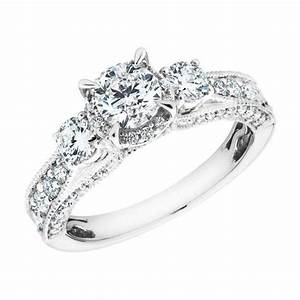 15 best collection of 3 band engagement rings With wedding rings for brides