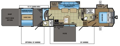 Jayco 5th Wheel Hauler Floor Plans by 2017 Seismic Hauler Floorplans Prices Jayco Inc