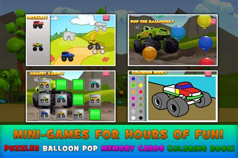 monster truck video games for kids game educational android monster trucks game for kids 2