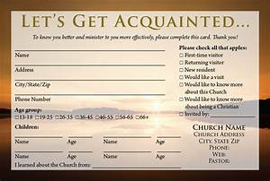 Visitor card templates calvary publishing for Church welcome card template