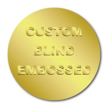custom blind embossed stickers personalized   logo