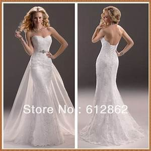 Strapless Sweetheart Neckline Low Back Mermaid Lace ...