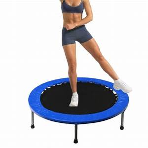 7a782621a01fe pick up only 40 mini trampoline fitness exercise rebounder blue online  shopping