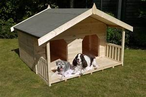 luxury double dog kennel summerhouse for 2 large dogs With unique dog kennels