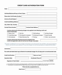Blank Credit Card Authorization Form Template Free 13 Sample Credit Card Authorization Forms In Pdf