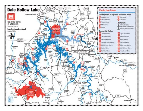 Dale Hollow Lake Map