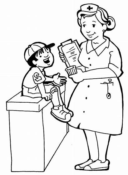 Nurses Clipart Coloring Pages Doctor Clip Library